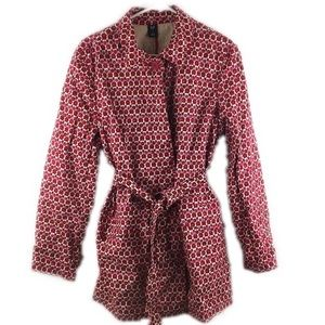 GAP Jackets & Coats - GAP Red Pink Print Jacket w/ Belt - B15